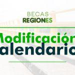 Modificación del calendario de publicación de resultados Becas Regiones 2021-1.